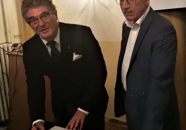 SIMSI (nella foto il Presidente dottore Pasquale Longobardi) firma protocollo distretto subacquea ligure, Comsubin Marina Militare 25 luglio 2019